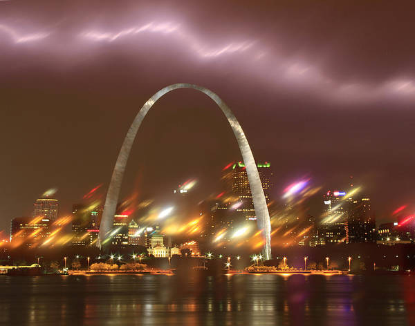 Photograph -  Thunderstorm Over The Arch by Garry McMichael