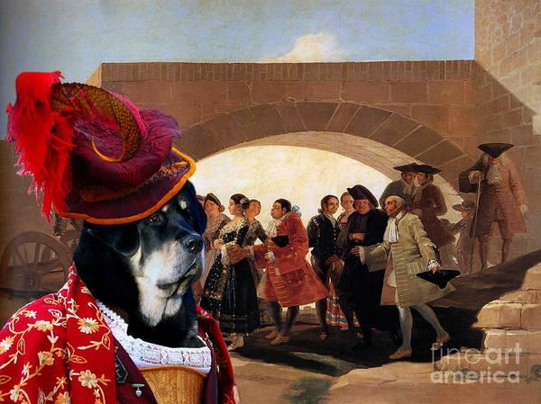 Tibetan Mastiff Painting -  Tibetan Mastiff Art Canvas Print by Sandra Sij