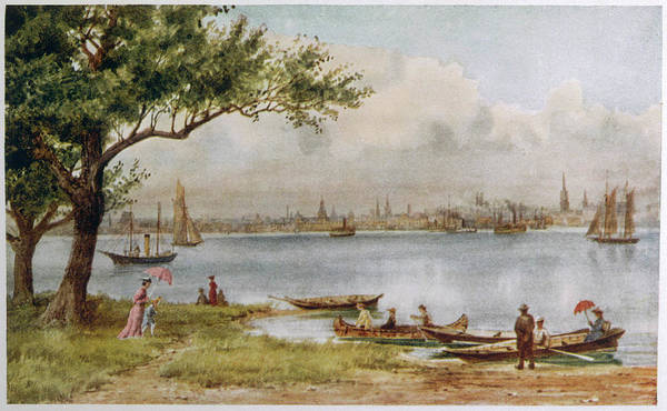 Toronto Drawing -  Toronto  Distant View Across The Water by Mary Evans Picture Library