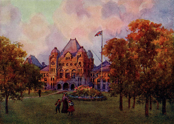 Toronto Drawing -  Toronto  Parliament Buildings by Mary Evans Picture Library