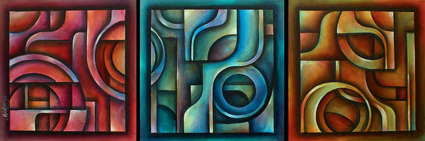 Wall Art - Painting - ' Trilogy' by Michael Lang