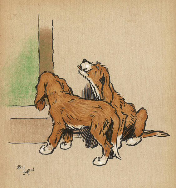 Pup Drawing -  Twin Puppies, Snip And Snap,  Decide by Mary Evans Picture Library