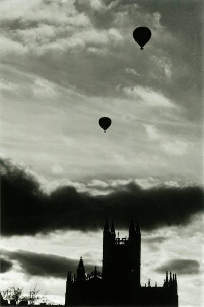 Bath Abbey Photograph -  Two Balloons Fly Above  The Abbey, Bath by Mary Evans Picture Library