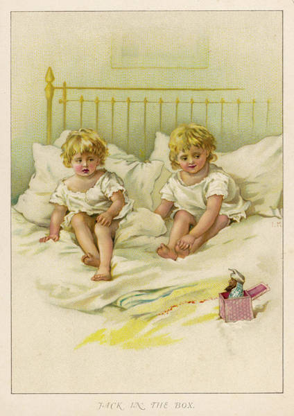 Wall Art - Drawing -  Two Children Look Warily by Mary Evans Picture Library