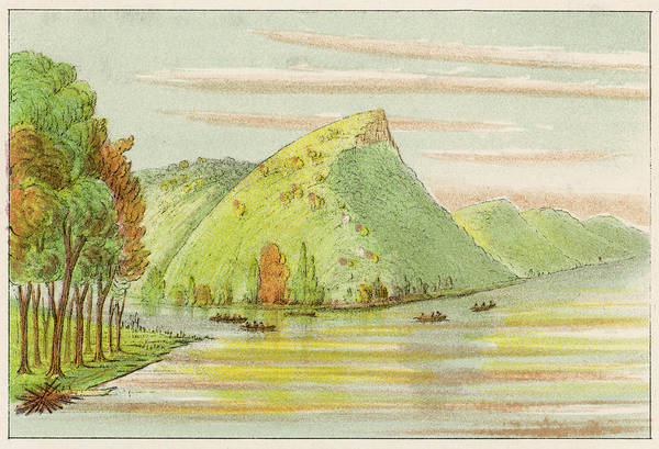 Mississippi River Drawing -  Upper Mississippi River         Date by Mary Evans Picture Library
