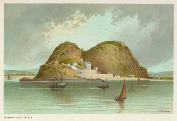 Dumbarton Wall Art - Drawing -  View Of The Castle At  Dumbarton by Mary Evans Picture Library