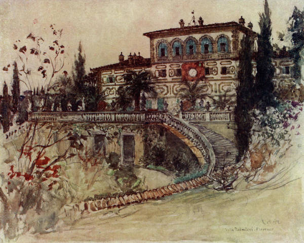 Villa Drawing -  Villa Palmieri         Date 1905 by Mary Evans Picture Library