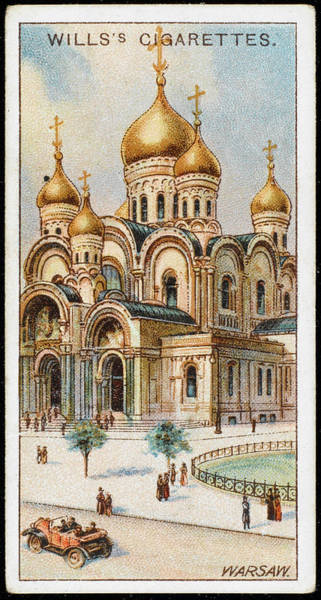Early 20th Century Drawing -  Warsaw  Church Of  St Alexander Nevski by Mary Evans Picture Library