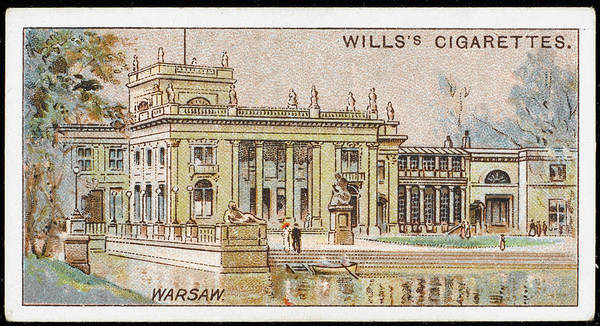 Early 20th Century Drawing -  Warsaw  Lazienki Palace        Date by Mary Evans Picture Library