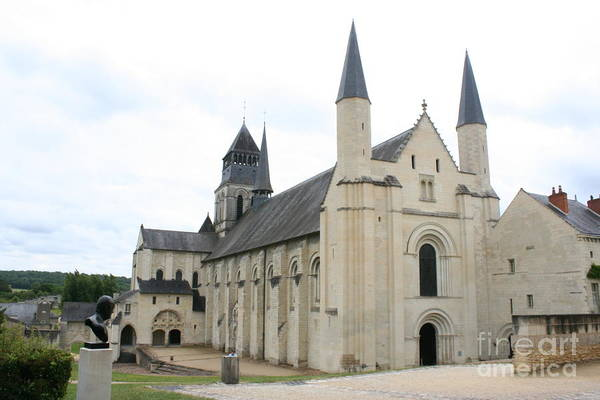 Fontevraud Photograph -  West Facade Of The Church - Fontevraud Abbey by Christiane Schulze Art And Photography