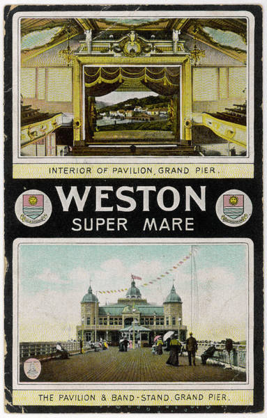 Above And Below Wall Art - Photograph -  Weston-super-mare, Avon Grand Pier by Mary Evans Picture Library