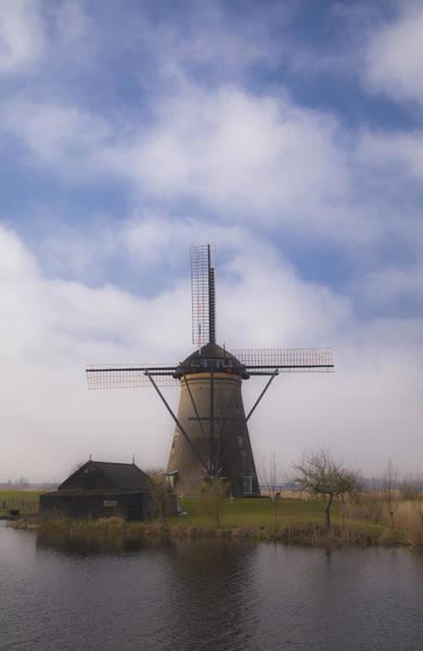 Windmill In Kinderdijk Netherlands Art Print