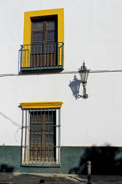 Photograph -  Windows And Street Light  by Tony Murtagh