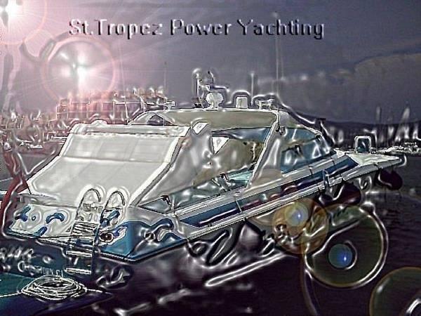 Speed Boat Digital Art -  Yacht Art by Rogerio Mariani