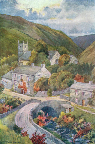 Stormy Drawing -  Yorkshire Scenery Muker In Swaledale by Mary Evans Picture Library
