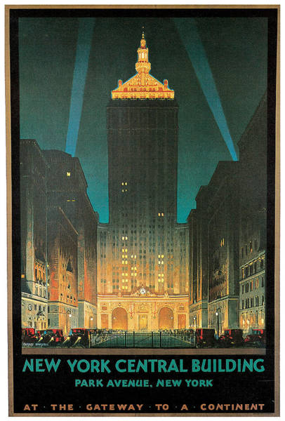 Painting - New York Central Building by Chesley Bonestell