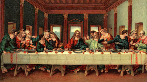 Wall Art - Painting - 0030s The Last Supper After Leonardo Da by Vintage Images