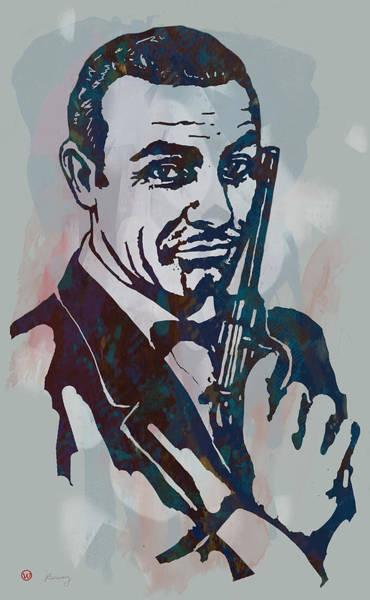 007 James Bond - Stylised Etching Pop Art Poster Art Print