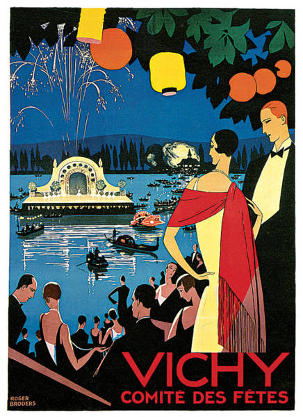 Painting - Vichy Festival Committee  by Roger Broders