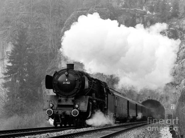01 150 On Tracks In Franconia Art Print by Joachim Kraus