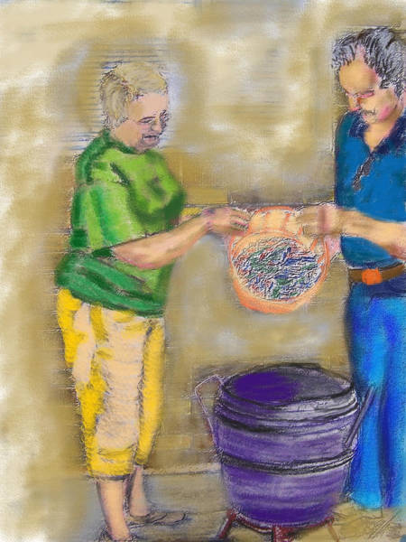 Painting - 01252015 Boiling Louisiana Blue Crabs by Garland Oldham