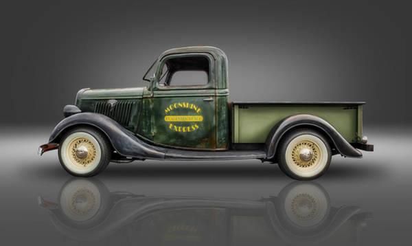 1935 Ford Pickup - Moonshine Express Art Print by Frank J Benz