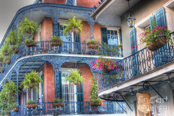 Balcony Photograph - 0255 Balconies - New Orleans by Steve Sturgill