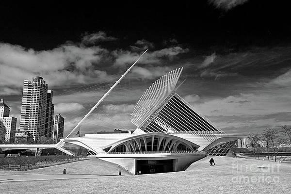 Milwaukee Art Museum Photograph - 0352 Milwaukee Art Museum Infrared by Steve Sturgill