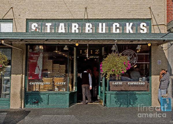 0370 First Starbucks Art Print