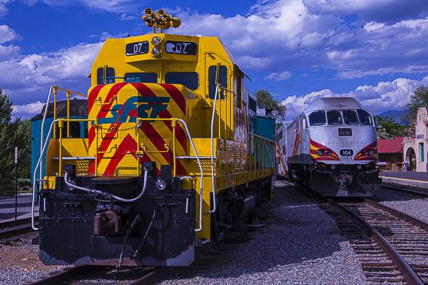 Commuter Rail Wall Art - Photograph - 07 Train Engine  by Garry Gay