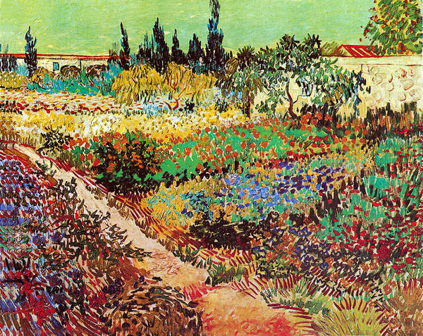 Photograph - Flowering Garden With Path by Vincent Van Gogh