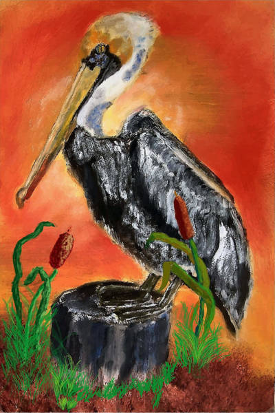 Painting - 082914 Pelican Louisiana Pride by Garland Oldham