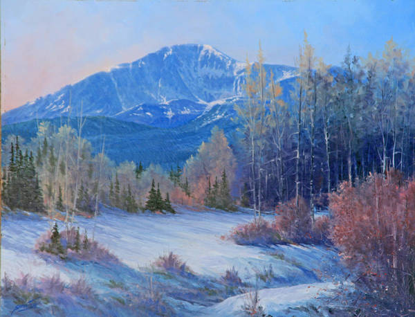 Pikes Peak Painting - 091129-1418  Fresh Snow - Pikes Peak by Kenneth Shanika