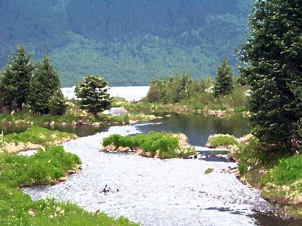 Painting - 092014 Water Color Alaskan Wilderness by Garland Oldham