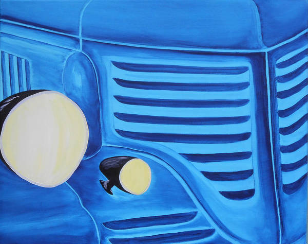 Custom Truck Painting - 095  Blue Dodger by Gregory Otvos