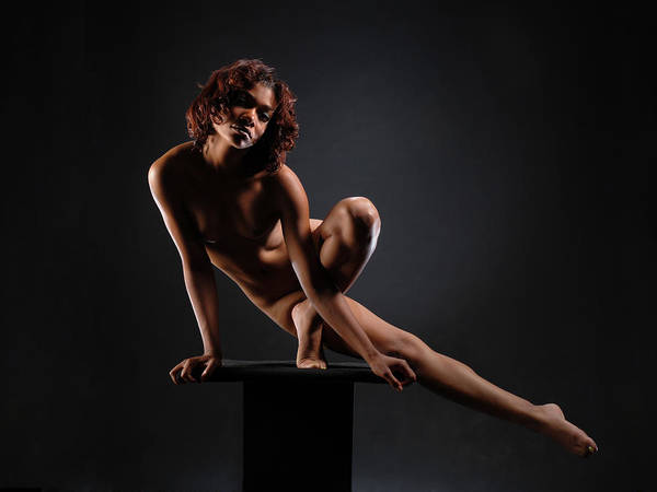 0953 Nude Dancer On Pedicel  Art Print