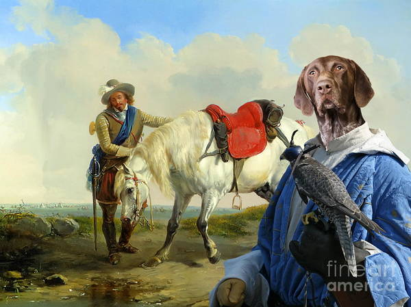 German Pointer Painting -  German Shorthaired Pointer - Kurzhaar Art Canvas Print by Sandra Sij