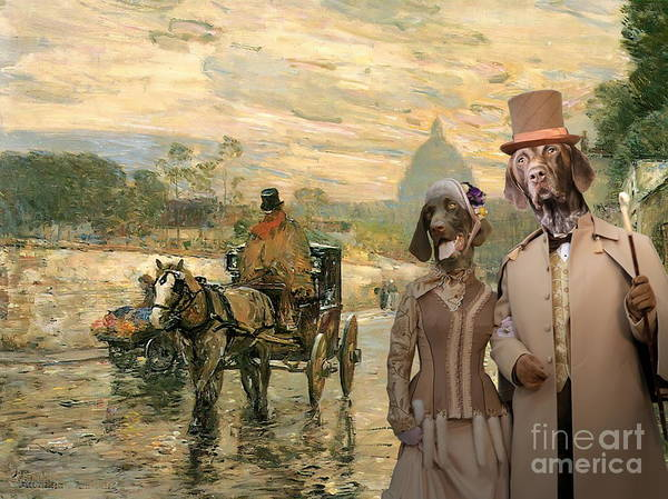 German Pointer Painting -  German Shorthaired Pointer Art Canvas Print by Sandra Sij