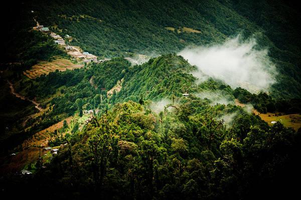 Wall Art - Photograph -  Himalayas Mountain With Mist Panaramic by Raimond Klavins