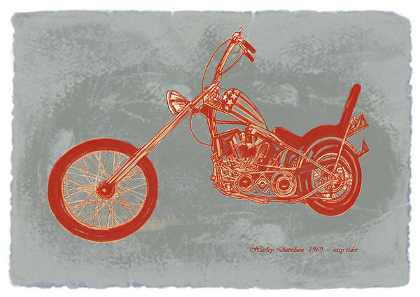 Mini Cooper Wall Art - Drawing -  Motorcycle Art Sketch Poster by Kim Wang