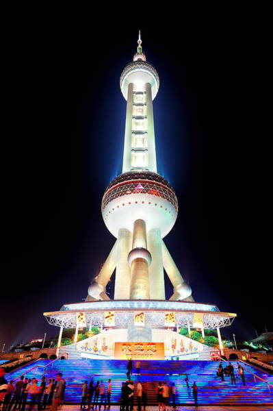 Photograph -  Oriental Pearl Tower Closeup  by Songquan Deng