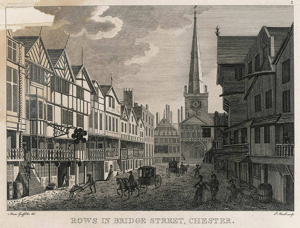 Wall Art - Drawing -  Street Scene In Bridge Street by Mary Evans Picture Library