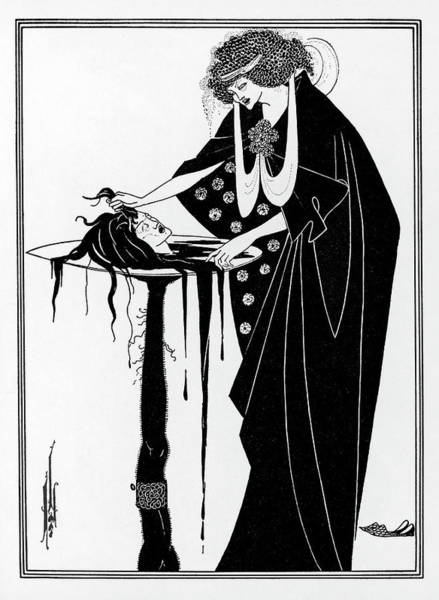 Beardsley Drawing -  The Dancer's Reward  The Head by Mary Evans Picture Library