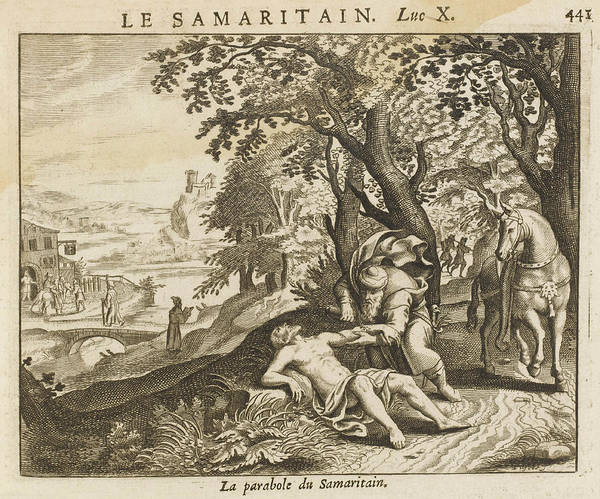 Wall Art - Drawing -  The Good Samaritan by Mary Evans Picture Library