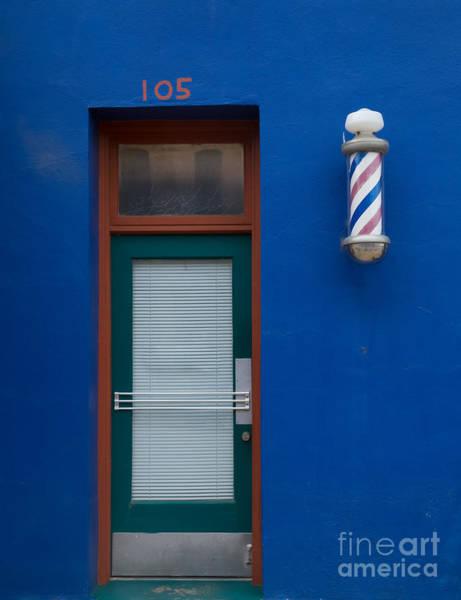2014 Photograph - Barber Shop, 105 E. Main Street by Bridget Calip