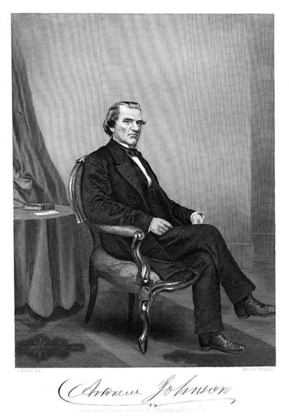 Vice Painting - 1800s 1860s Andrew Johnson Abraham by Vintage Images