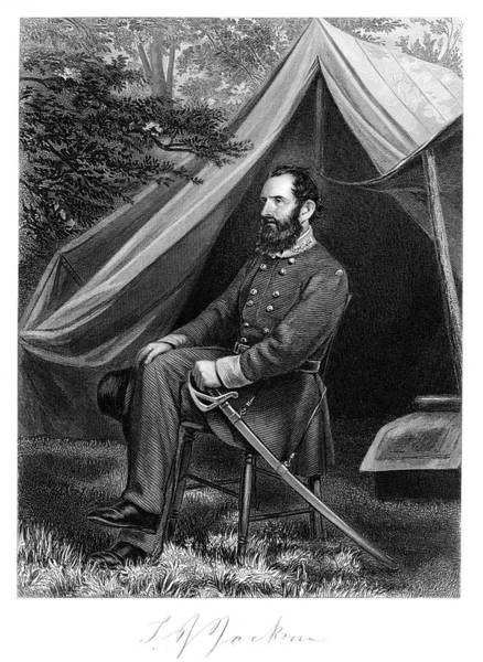 Stonewall Jackson Painting - 1800s 1860s Portrait Confederate by Vintage Images