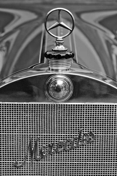 1911 Photograph - 1911 Mercedes 50 Hp Maythorn Five Passenger Tourer Hood Ornament by Jill Reger