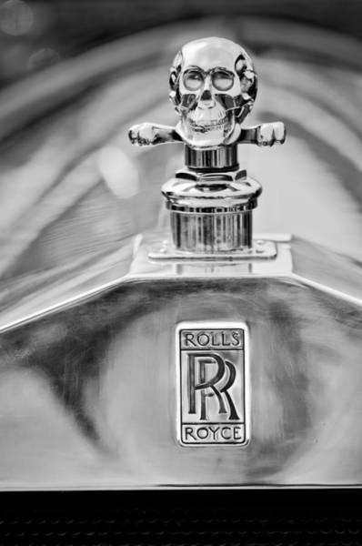 Photograph - 1912 Rolls-royce Silver Ghost Cann Roadster Hood Ornament - Emblem by Jill Reger