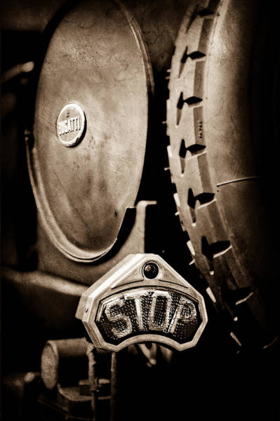 Photograph - 1920 Bugatti Type 13 Taillight by Jill Reger